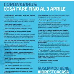 COVID-19 COSA FARE FINO AL 3 APRILE